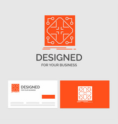 Business logo template for data infrastructure vector
