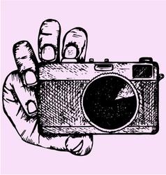 Camera hand vector
