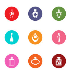 Carboy icons set flat style vector