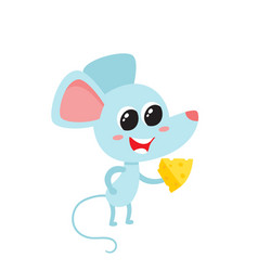 Cartoon funny mouse vector