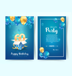 celebration 60th years birthday vector image