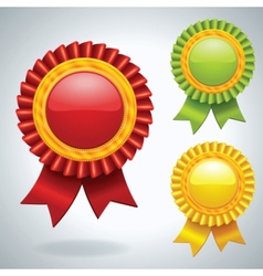 collection of three medals vector image