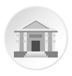 Colonnade icon circle vector