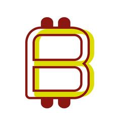 Color symbol icon bitcoin money currency vector
