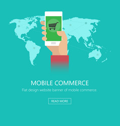 Concept of mobile commerce vector