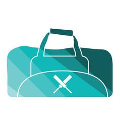 Cricket bag icon vector