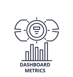 dashboard metrics line icon concept dashboard vector image