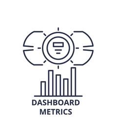 Dashboard metrics line icon concept dashboard vector