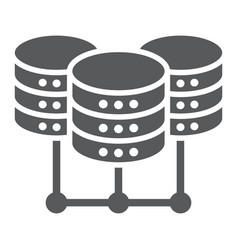 data center glyph icon data and analytics vector image