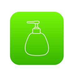 dispenser pump cosmetic icon green vector image
