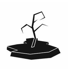 Drought icon simple style vector