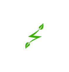 eco electric icon logo design element vector image