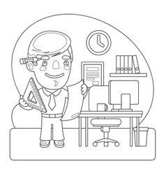 engineer coloring page vector image