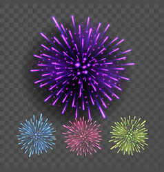 firework night sky design salute effect vector image