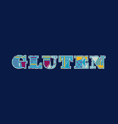 Gluten concept word art vector