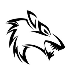 Head fox tribal vector