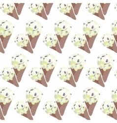 Ice cream Vanilla waffle cones vector image