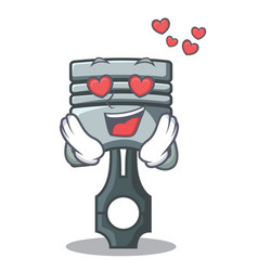 In love piston isolated in the cartoon shape vector
