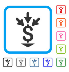 Integrate payment framed icon vector