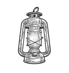 kerosene lamp sketch vector image