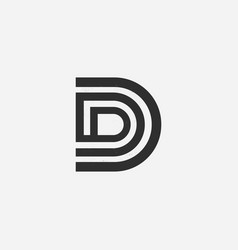 letter d creative modern letters icon vector image