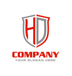 Letter hd logo design vector
