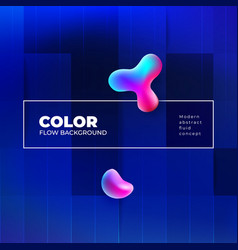 liquid color background design with square cells vector image