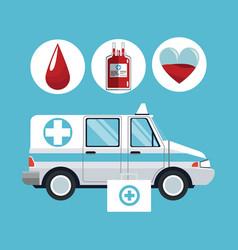 medical emergency concept vector image