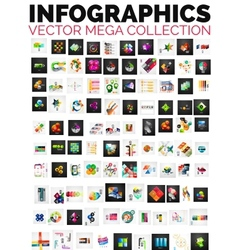 Mega collection of 100 infographic layouts vector image