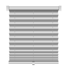 metal louver mockup realistic style vector image