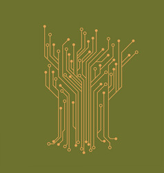 Microelectronics circuits circuit board green vector