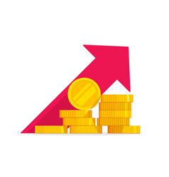 money growth flat golden vector image