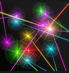 Multicolored laser beams vector