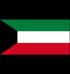 National flag of kuwait original size and colors vector