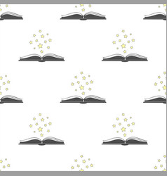 open book icon with with stars above it vector image