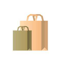 paper bags two eco-friendly packages packet handle vector image