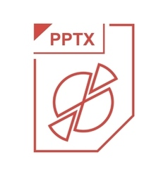 PPTX file icon cartoon style vector image