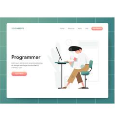 programmer concept modern design concept web vector image