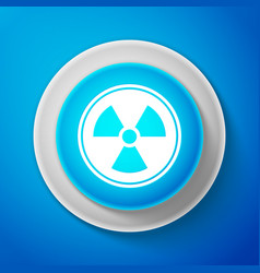 radioactive icon isolated on blue background vector image