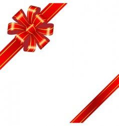 Red bow on white background vector