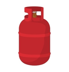 Red gas bottle cartoon icon vector