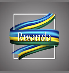 rwanda flag official national rwandan 3d vector image