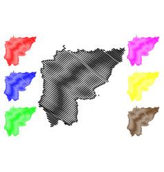 Sa kaeo province map vector