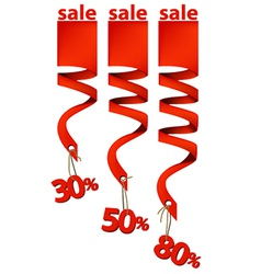 Sale bands vector image