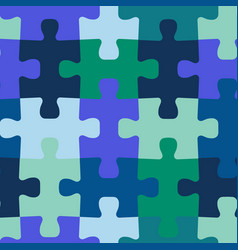 seamless background jigsaw puzzle pieces vector image