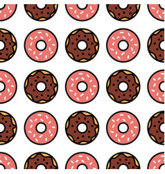 seamless donut pattern donuts background vector image