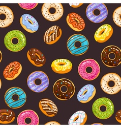 Seamless pattern with colorful glaze and sprinkles vector