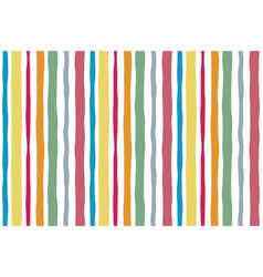 seamless striped color pattern lines watercolor vector image