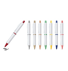 set of colorfull pens vector image