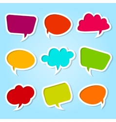 Set of speech colorful bubbles vector image